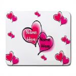 Personalised Hearts Mouse Mat